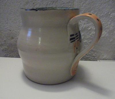 Keramik: m�lkekande m orange hank